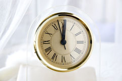 Clock at noon Royalty Free Stock Photo