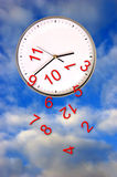 Clock with numbers falling Royalty Free Stock Photo