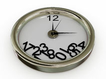 Clock with numbers have fallen Royalty Free Stock Image