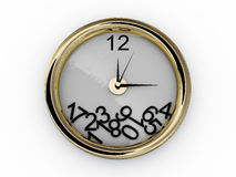 Clock with numbers have fallen Stock Image