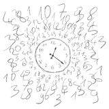 Clock numbers Royalty Free Stock Photo