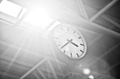 Clock in the office building Royalty Free Stock Photo