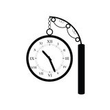 Clock old black vector Royalty Free Stock Photography