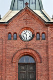 Clock on the old brick Church Royalty Free Stock Photo