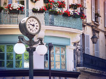 Clock in Old center of Avignon, France Stock Images