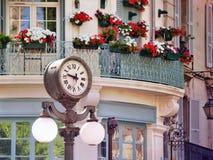 Clock in Old center of Avignon, France. Scene with a historic clock in Old center of Avignon, France, Provence Royalty Free Stock Image