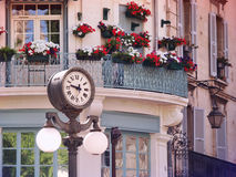 Clock in Old center of Avignon, France Stock Photography