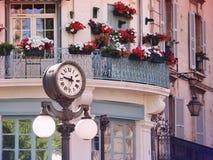 Clock in Old center of Avignon, France. Scene with a historic clock in Old center of Avignon, France, Provence Stock Photography