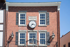 Clock on Old Morrison Building Stock Photos