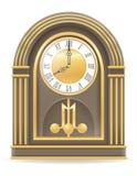 Clock old retro icon stock vector illustration Stock Photos