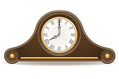 Clock old retro icon stock vector illustration Royalty Free Stock Images