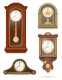 Clock old retro set icon stock vector illustration Stock Image