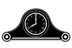 Clock old retro vintage icon stock vector illustration black out Stock Photography
