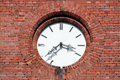 Clock on old tower. Royalty Free Stock Image