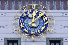 Clock of Old Town Hall, Munich Royalty Free Stock Photo