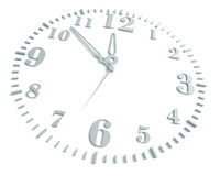 Clock, On A White Background Stock Photo