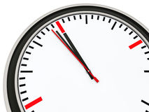 Clock one minute for twelve Royalty Free Stock Images