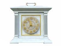 clock opal vintage white 图库摄影