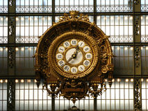 Clock in the Orsay Museum 01, Paris, France Stock Photo
