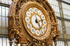 Clock at the Orsay Museum Royalty Free Stock Images