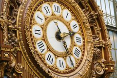Clock at the Orsay Museum Stock Photos