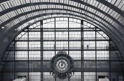 Clock of the Orsay Museum in Paris Royalty Free Stock Photo