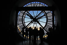 The clock at the Orsay Museum, Paris, France Royalty Free Stock Image