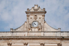 Clock in Ostuni Stock Images