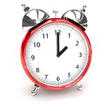 Clock over white Royalty Free Stock Image