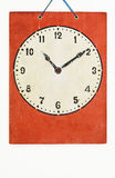 Clock paint on white background Stock Images
