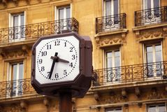 Clock in Paris Stock Photo