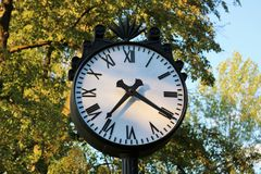 Clock in the park Royalty Free Stock Photo