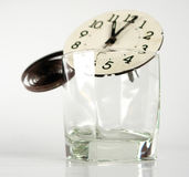 Clock parts in a glass Stock Image