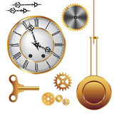Clock parts Royalty Free Stock Photos