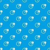 Clock 24 7 pattern seamless blue Stock Image