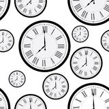 Clock pattern Stock Photo
