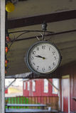 Clock in pavilion Stock Images