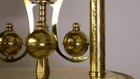 Clock Pendulum. A Clock Pendulum. Golden view video stock video footage