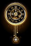 Clock with pendulum Stock Photo