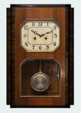 Clock with pendulum. Vintage antique clock with pendulum Stock Photo