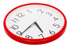 Clock Per The Red Case Royalty Free Stock Photography