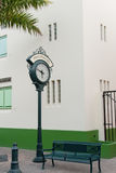 Clock in Philipsburg, Sint Maarten Royalty Free Stock Photo