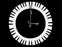 Clock-Piano Stock Image