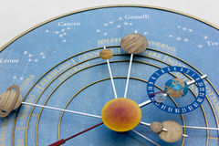 The Clock of the Planets Royalty Free Stock Image