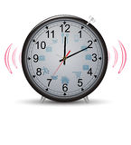Clock with pointers working day Stock Photography