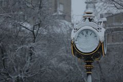 Clock pole Stock Photography