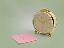 Clock and post-its Stock Photography