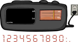 Clock Radio. Alarm clock radio with blank areas for time and frequency Royalty Free Stock Photo