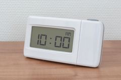 Clock radio - Time - 10.00 AM royalty free stock images