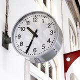 Clock at railway station Royalty Free Stock Image